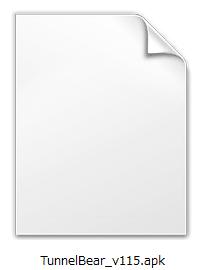 apkファイルがダウンロードされた