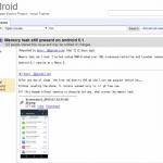 Android 5.0 Lollipopで発覚したメモリリークのバグはAndroid 5.1 Lollipopでも修正されていないことが判明。Googleは既に修正済みでAndroid 5.1.1で解決する予定。