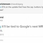 Android 5.1 Lollipopは3月にリリースされる予定であることが判明。HTCの製品開発部門の副責任者Mo Versi氏がTwitterで言及。
