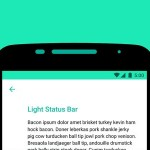 Android 6.0 Marshmallowではステータスバー上のアイコンを白だけでなくステータスバーが明るい色の場合は黒で表示させることが可能に。