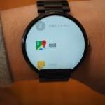 Android Wear 5.1.1ではスマートウォッチ上でGoogleマップを直接起動してピンチイン/アウトやスワイプ操作で任意の場所を表示させることが可能に。