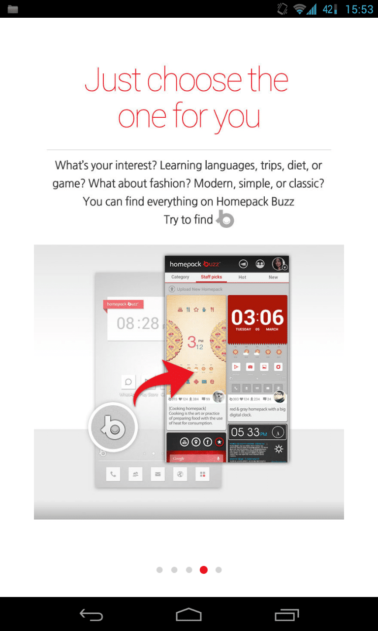 Buzzランチャー(Buzz Launcher):他のユーザーがカスタムした