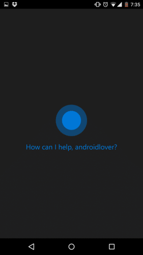 Cortanaの初期設定は完了