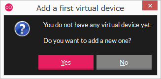 「Yes」をクリック