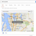 Google検索で「Find my phone」と検索するとAndroidデバイスマネージャーを使わずにAndroid端末の場所を探すことが可能に。着信音を鳴らすことも可能。