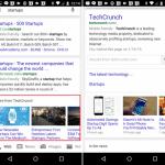 スマートフォン向けGoogle検索に特定のサイトの最近の関連記事をサムネイル付きで表示し、横スライドで他の記事をすぐに確認できる機能が追加。