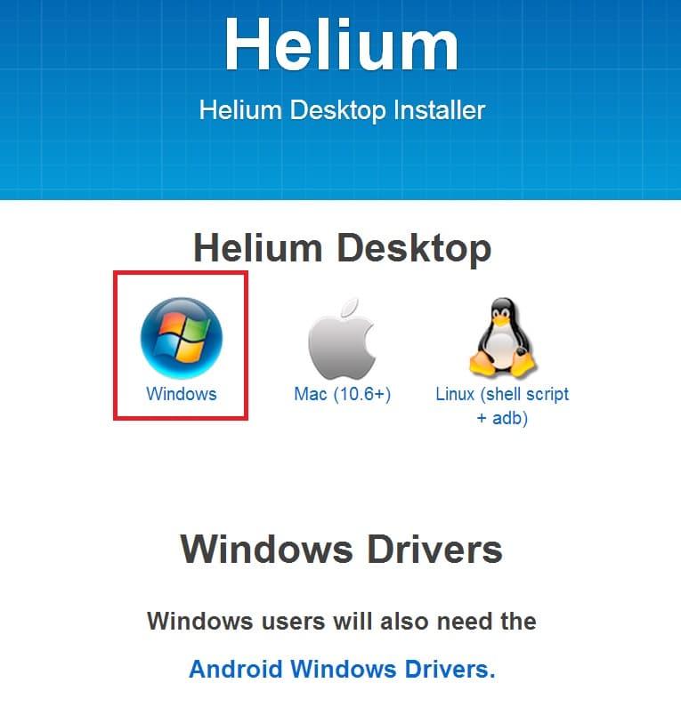Helium Desktop Funktioniert Nicht