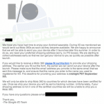 Moto 360の発送先確認のメールがGoogle I/O 2014参加者に届き始める。発送は9月5日?