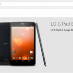 LG G Pad 8.3 Google Play Edition販売開始。