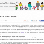 Android 5.0 Lollipopのアップデートは2014/11/3より配信開始。Android Official Blogにて発表。