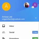 ほぼ全てのメールをサポートする新しいGmailアプリのアカウント切り替え方法や様子が分かる動画がリーク。