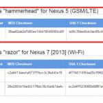 Nexus5 Android 4.4(KRT16M)のファクトリーイメージが公開。