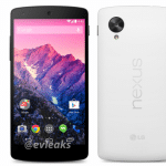 Nexus 5はブラック・ホワイトの2色展開で11月1日に発売予定。evleaks氏のリークより。