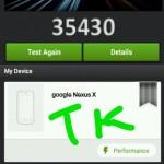 Nexus Xのベンチマーク結果のスクリーンショットが流出?