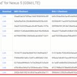 Nexus5向けAndroid 5.1.1のファクトリーイメージが公開。