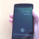 Nexus 5のハンズオン動画。