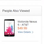 Nexus6がAT&Tの公式サイトに一時掲載される。