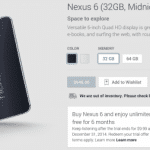 Nexus6は米国では11月21日に発売されることが米国Google Playストアの予約開始で判明。