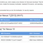 新型Nexus7(2013)のファクトリーイメージが公開。