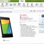 新型Nexus7(2013)の予約がAdoramaとB&Hで開始。日本への発送あり。
