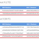 Nexus9 Wi-Fiモデル/LTEモデル向けにAndroid 5.0.2 Lollipopのファクトリイメージが公開。