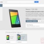 新型Nexus7(2013)がカナダのGoogle Playストアで発売開始。