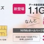 NifMo(ニフモ)の1.1GBプランの申し込み方法と注意点まとめ。