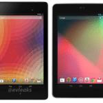 Nexus7の新旧サイズ比較。新型Nexus7の方が縦に長く横幅は狭い、また薄型になっていることが判明。