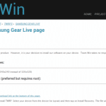 Samsung Gear Live向けカスタムリカバリ TWRPがリリース。