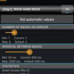Smart Screen ON Lite:近接センサーの前で手を振るだけでスリープ解除やスリープさせることができるアプリ。
