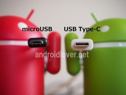 左がmicroUSBで右がUSB Type-C