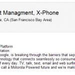 X Phoneプロジェクトのプロダクトマネージャーの具体的な仕事内容が判明。端末名はX Phoneで確定?